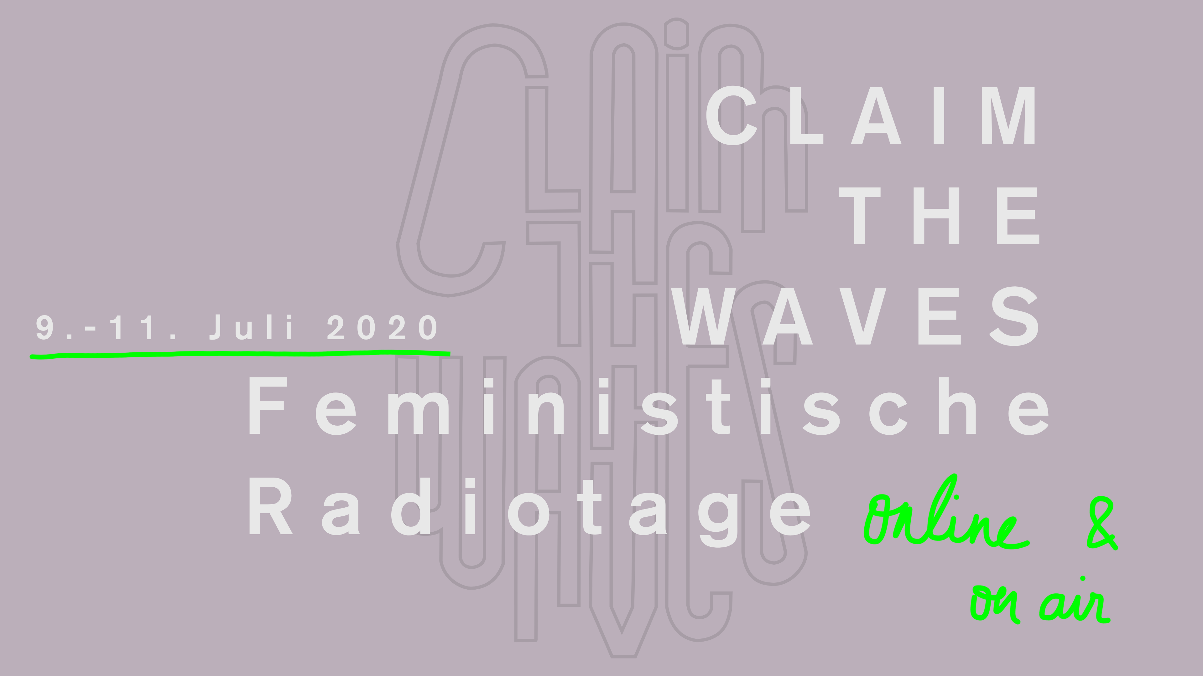 Claim the Waves - Feministische Radiotage